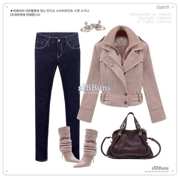 秋冬韓版 帥氣雙層翻領短版外套-粉色3.jpg