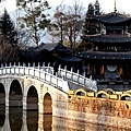 麗江黑龍潭的相思橋