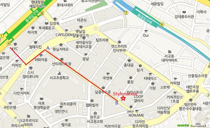 Stylenanda map