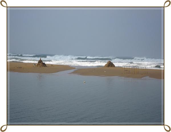 因為颱風...海邊封起來不能去