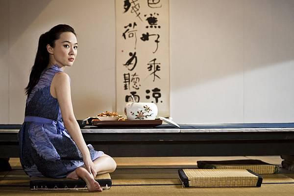 霍思燕飾演曾江的女兒,和藍正龍有感情對手戲