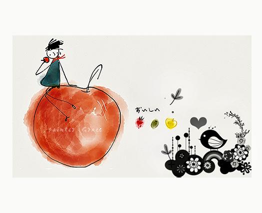 水果禮盒插畫設計_Grace