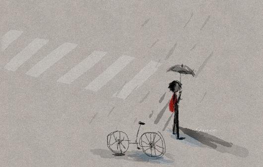 雨中の等待_ grace繪