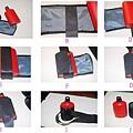 自製水壺袋(安全帶+帆布)