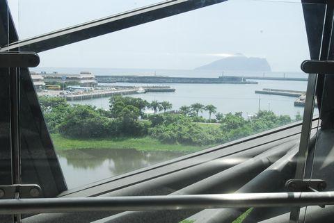 (蘭陽博物館)從濕地、烏石港到龜山島的一窗三景.JPG