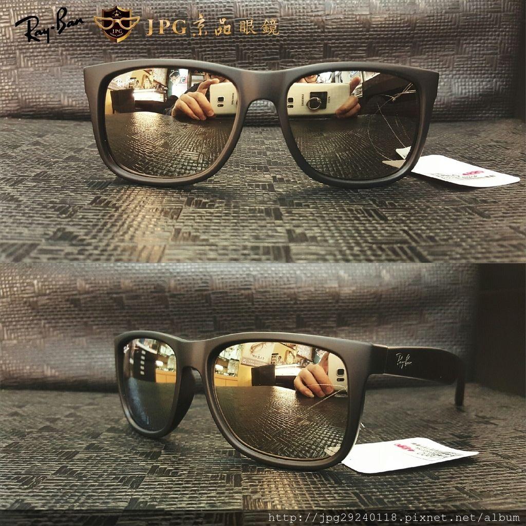RB4165F 622%2F5A 霧黑框%2F香檳金水銀鏡片