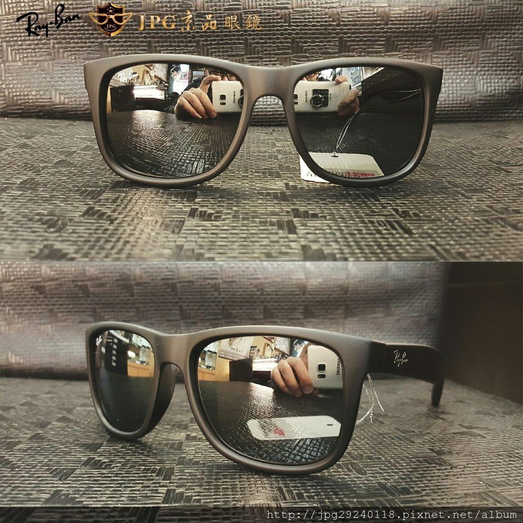 RB4165F 622%2F6G  霧黑框%2F白水銀鏡片
