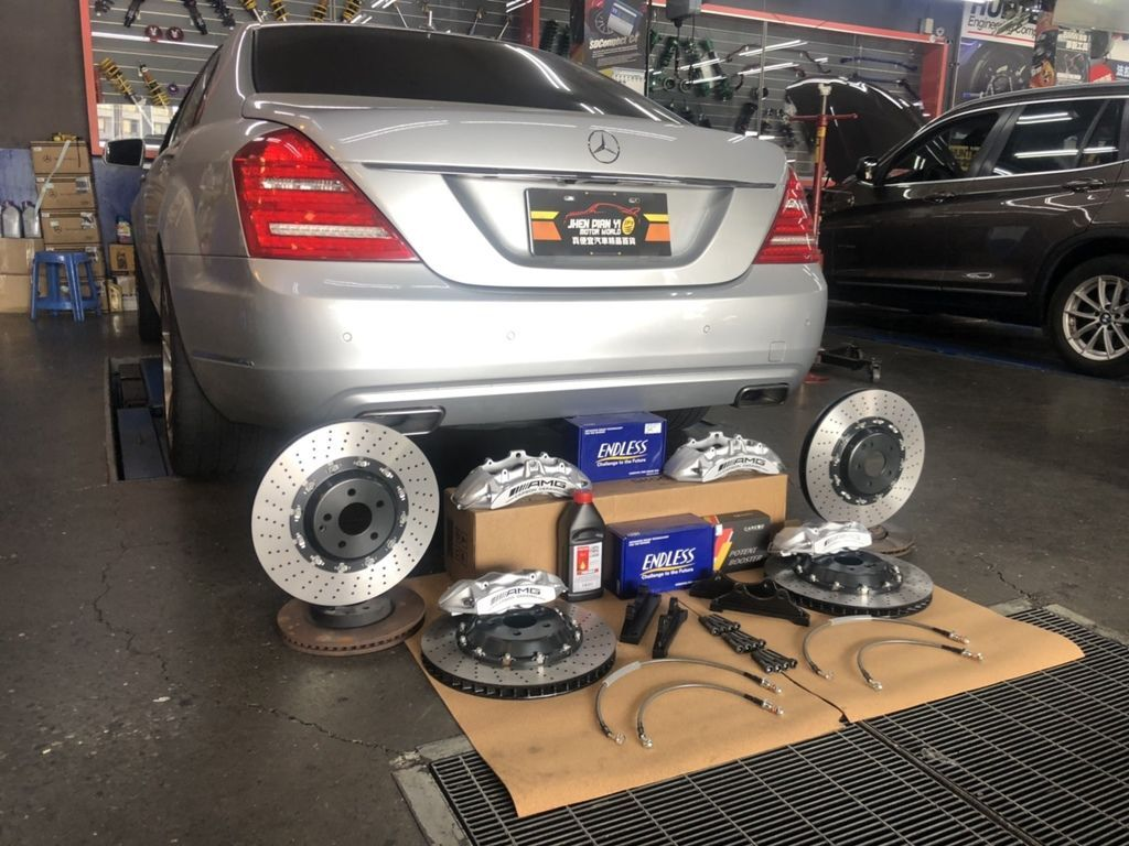 BENZ S系列升級AMG卡鉗ENDLESS煞車來令片HRE鋁圈PS71輪胎