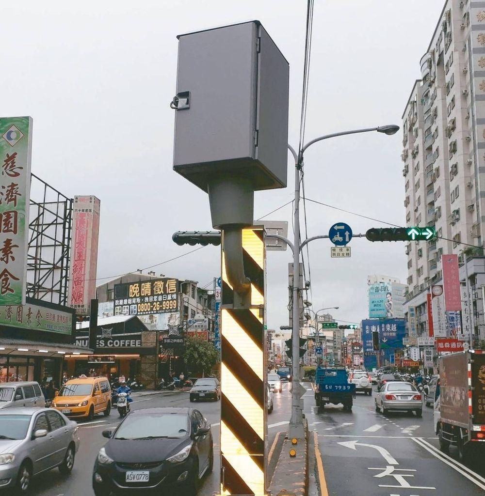 台南市固定測速照相機闖紅燈最多地點是永康區中華路、中華二路口