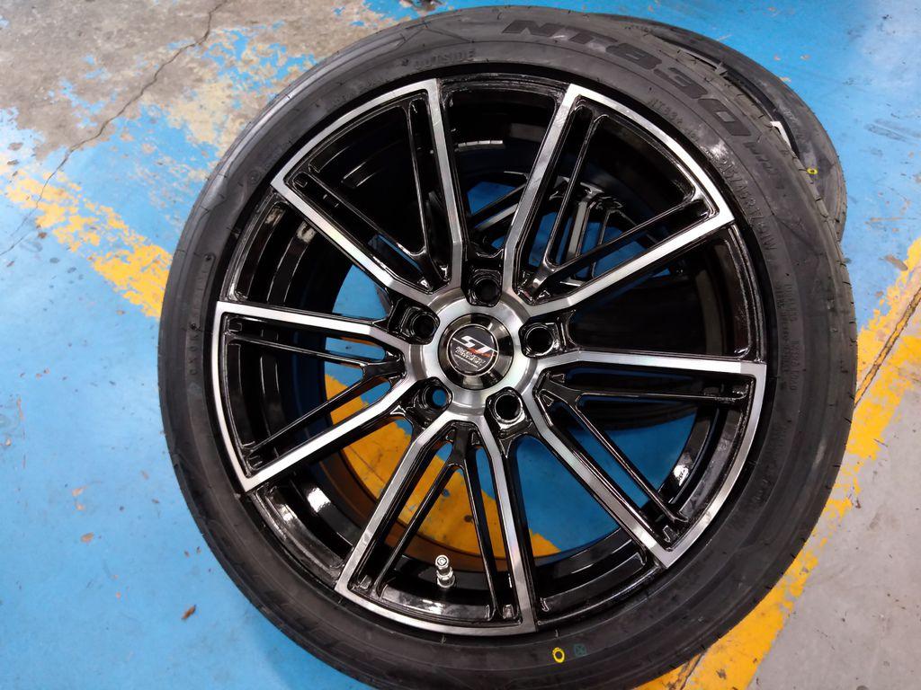 ST系列S514型號17吋鋁圈搭日本進口日東輪胎