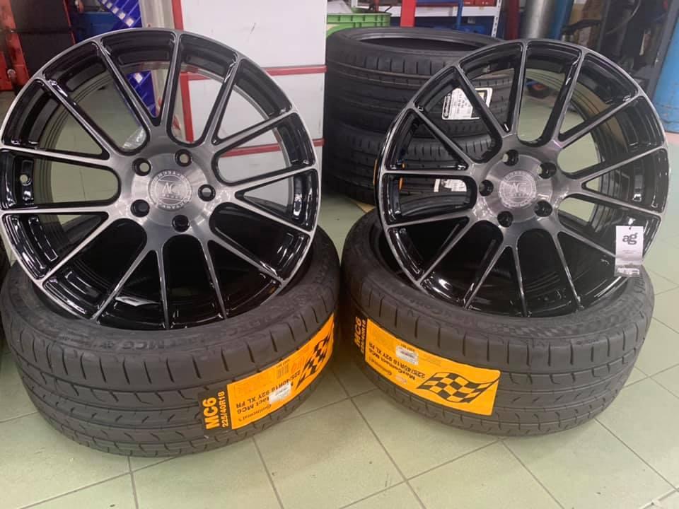 IS200T 安裝AG 18吋旋壓鋁圈馬牌MC6輪胎