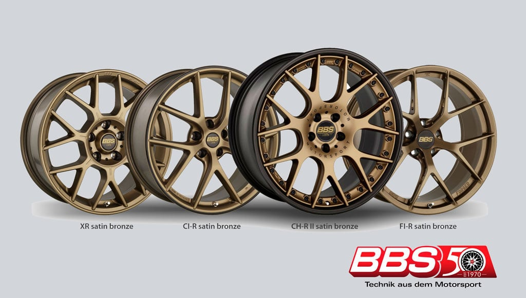BBS 50年 XR,CI-R, CH-RII, LM, FI-R 5款鋁圈