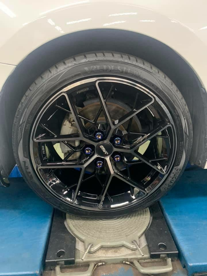 MAZDA3 升級 ABS01 18吋旋壓鋁圈 搭配荷蘭威斯登SATIN 225/40/18輪胎