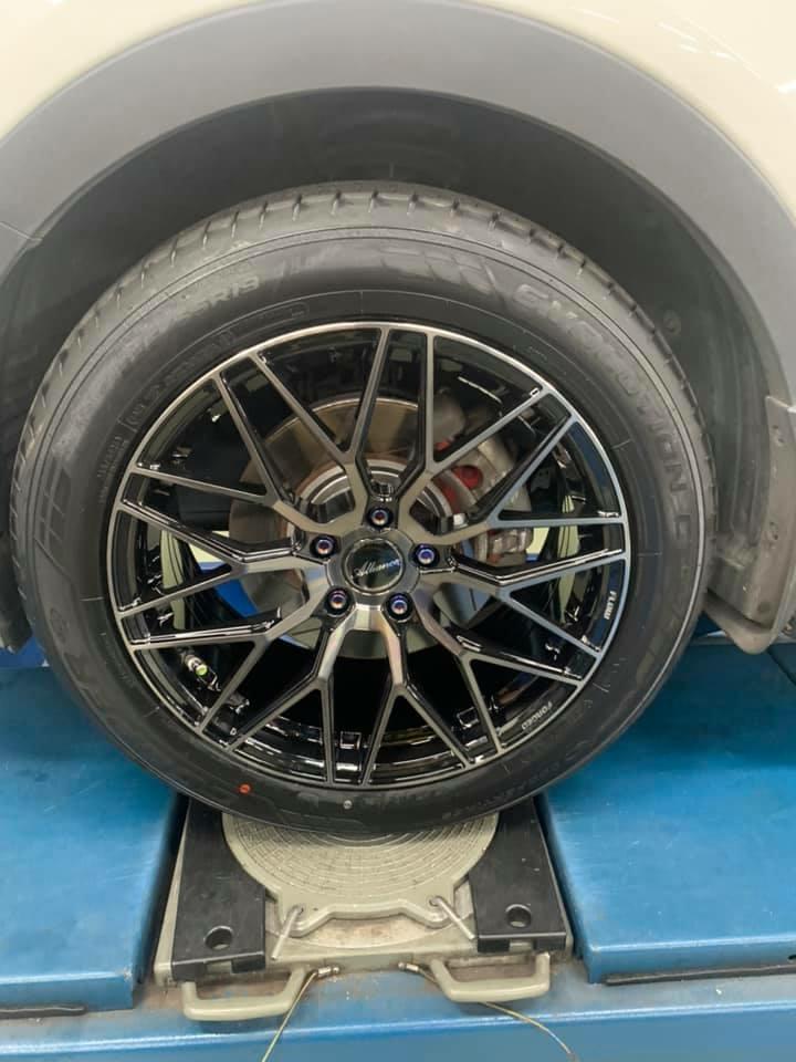 SANTAFE 升級 AL792 19吋旋壓鋁圈  搭配固鉑CTT 235/55/19輪胎