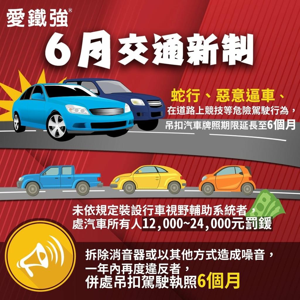 2021年6月交通三項新制