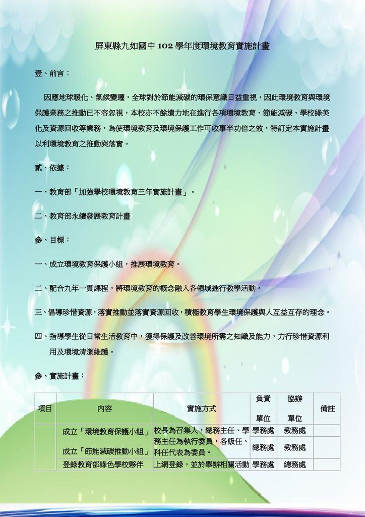 屏東縣九如國中102學年度環境教育實施計畫-1.jpg