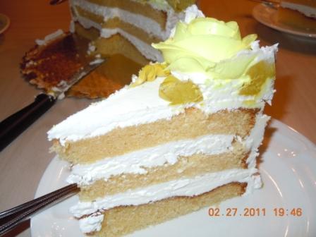 Buttercream Cake slice