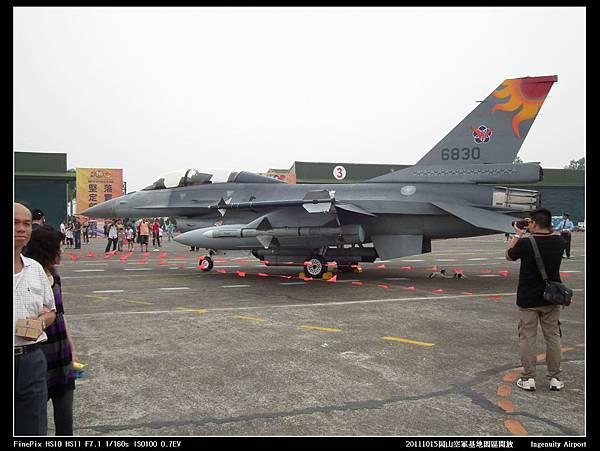20111015岡山空軍基地-F16與幻象2000V25.JPG