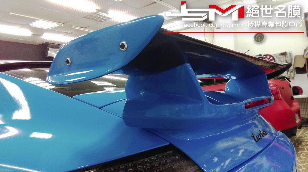 Porsche 997全車改色包膜 烤漆水藍 (4).jpg