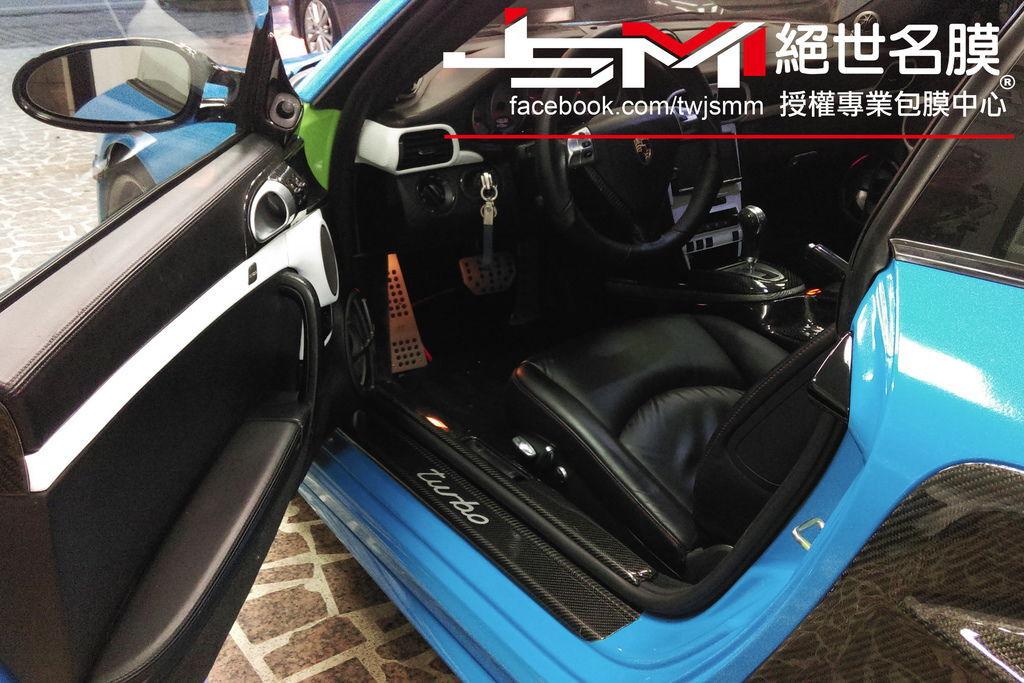 Porsche 997全車改色包膜 烤漆水藍 (7).jpg