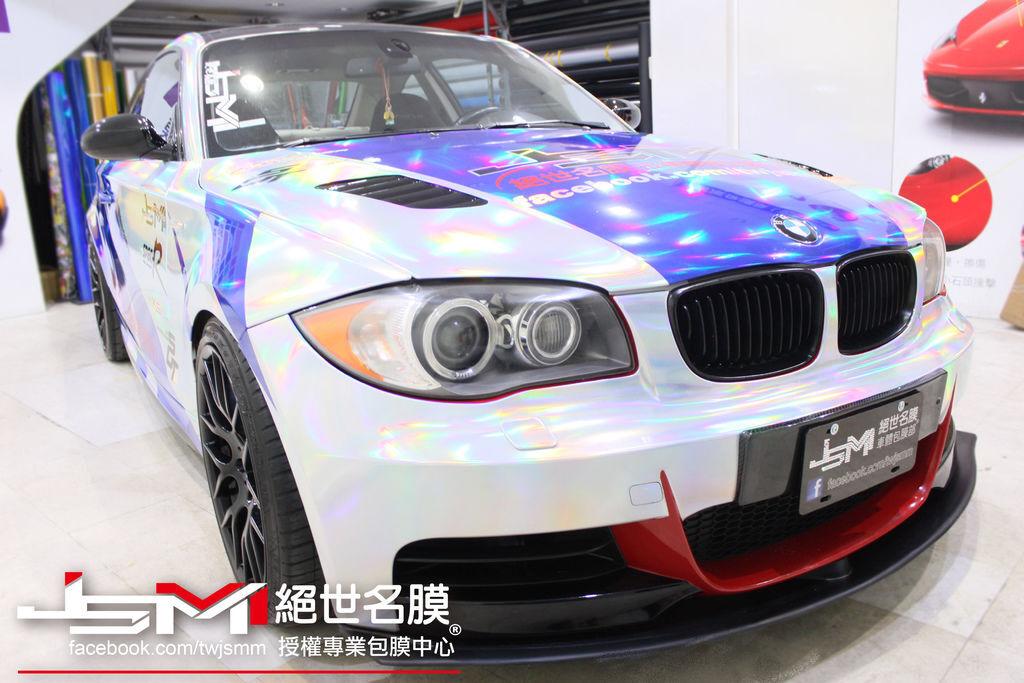 BMW135i全車雙色雷色電鍍膜+彩繪 (2).jpg
