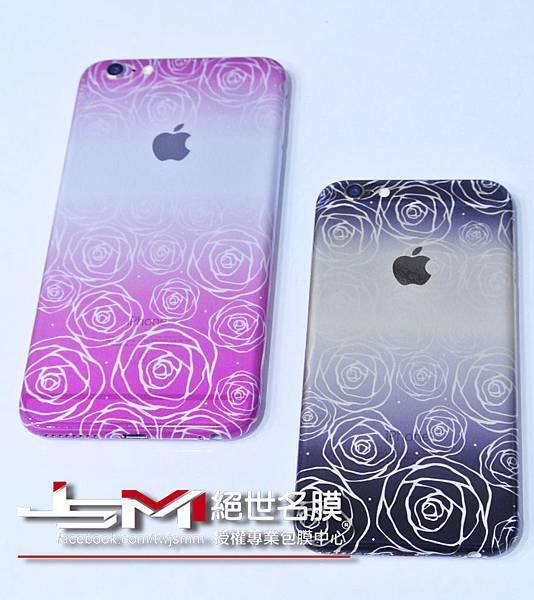 iPhone6(金)%26;6 Plus(黑)背-漸層玫瑰 粉%26;黑 (1).JPG