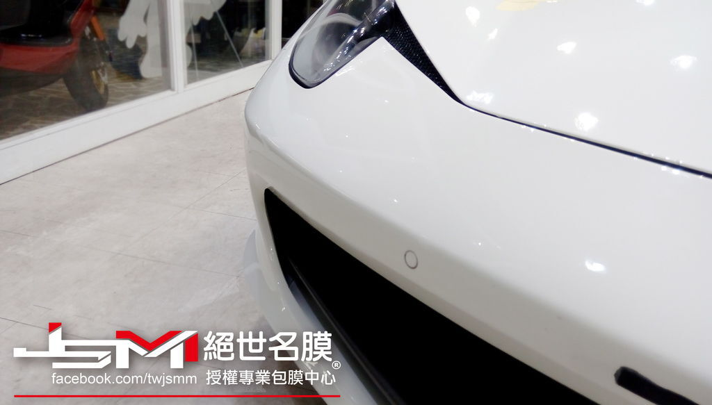 法拉利Ferrari 458 Italia-白全車TPU透明膜 (1).jpg