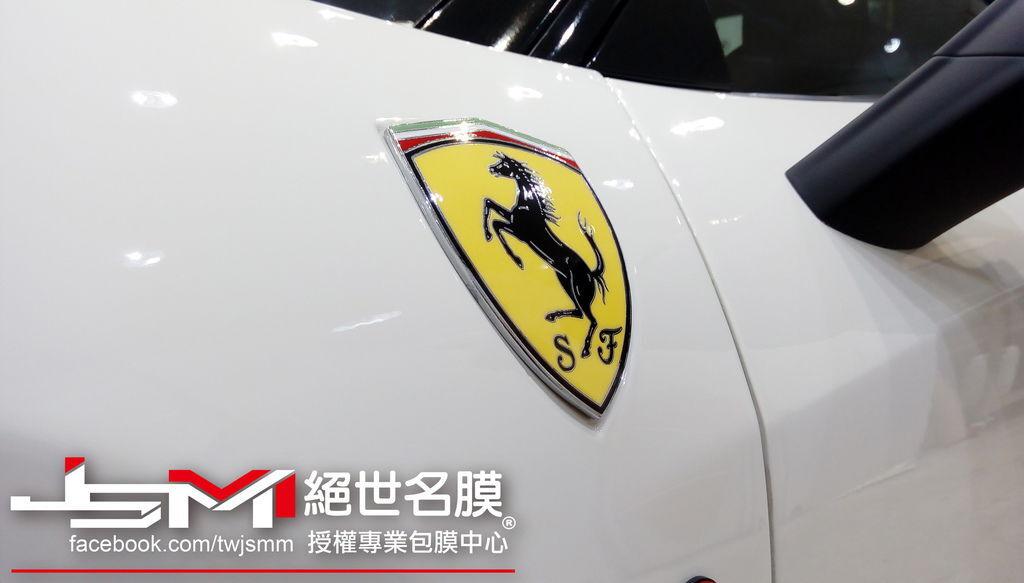 法拉利Ferrari 458 Italia-白全車TPU透明膜 (7).jpg