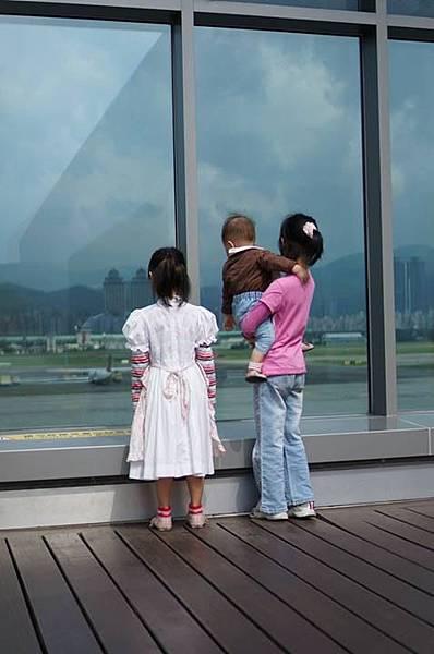 松山機場觀景台看飛機
