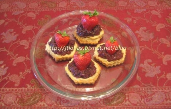 Strawberry and Red Bean Purée Tartlets.JPG