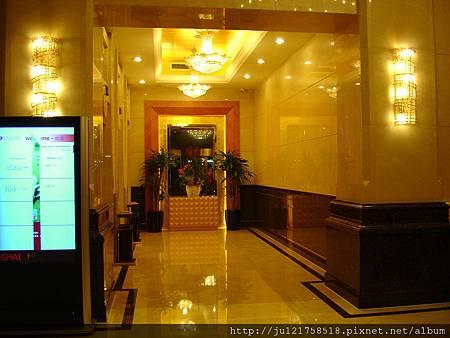 上海的飯店電梯前走廊