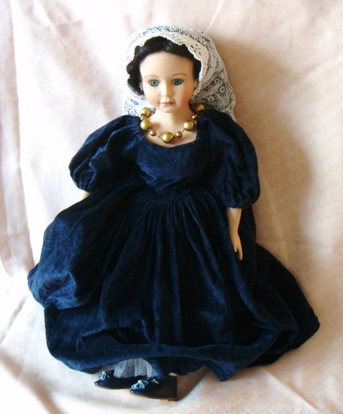 古典西洋陶瓷娃娃之 「路易十四的情人」身高 43cm