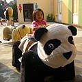 小辣椒坐熊貓