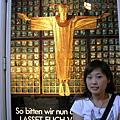 這是新教堂裡的基督像的燈箱