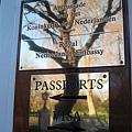 20070302 London 荷蘭大使館  拍完就被警告了 XD