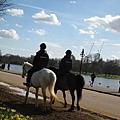 20070302 London 公園裡還有騎馬專用道勒