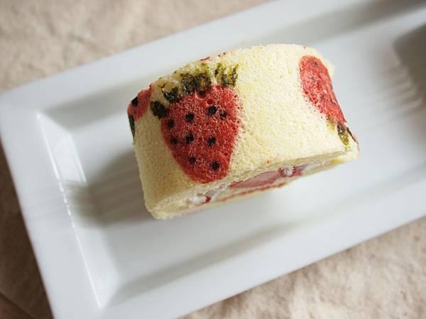 俯瞰草莓蛋糕