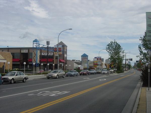 沿街都是這樣的華人商店