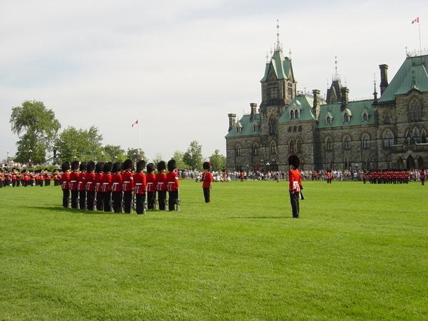 觀賞閱兵儀式