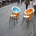 天氣熱,看到這種椅子很高興呢