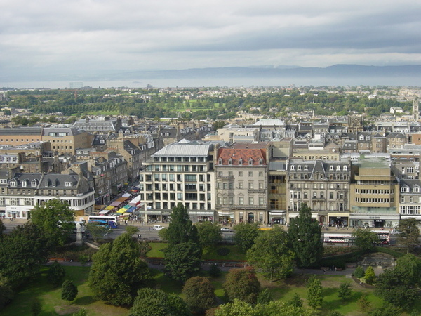 從城堡俯瞰愛丁堡市區