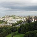 俯瞰愛丁堡火車站