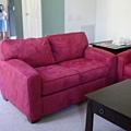 紅色的沙發