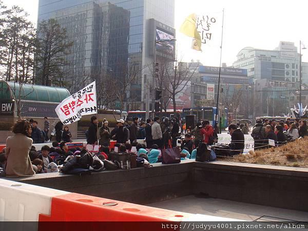 韓國的抗議活動還真多