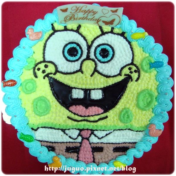 海棉寶寶卡通造型蛋糕