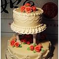 翻糖/糖霜裝飾蛋糕_玫瑰花園雙層結婚蛋糕_6吋/10吋_量身客製電洽