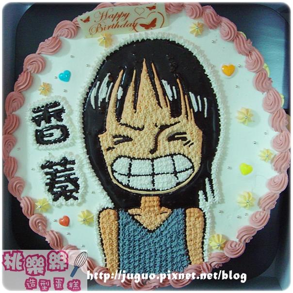 海賊王_妮可羅賓nico robin卡通造型蛋糕_10吋