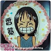 海賊王:妮可羅賓nico robin卡通造型蛋糕_6吋:780元/8吋:880元/10吋:1180元/12吋:1680元_NO.001