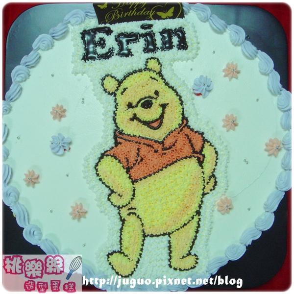 編號:001_小熊維尼手繪卡通造型蛋糕_8吋:1140元/10吋:1440元/12吋:1940元