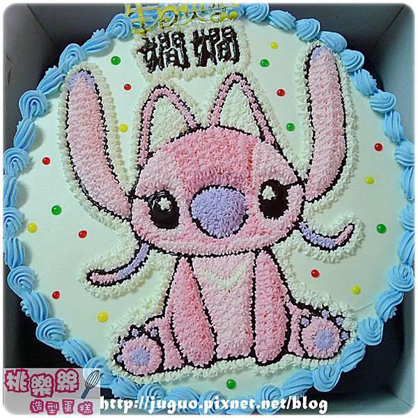 編號:007_史迪奇女朋友-安琪Angel手繪卡通造型蛋糕_8吋:1140元/10吋:1440元/12吋:1940元